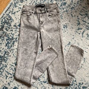 Express Gray High Waisted Skinny Jeans - 2R